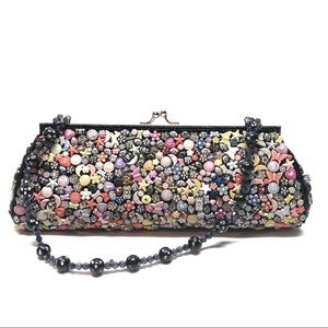 Funky Celestial Beaded Clutch Purse Convertible
